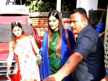 Sonam Kapoor snapped post NDTV shoot