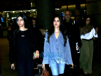 Sridevi and family snapped at the airport