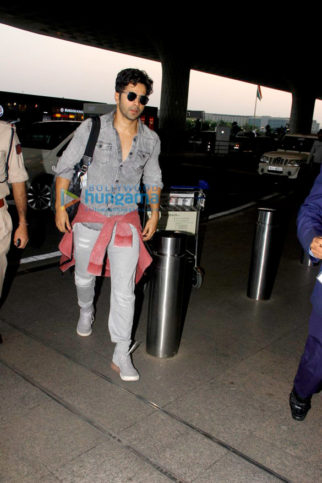 Varun Dhawan, Alia Bhatt and Neha Dhupia snapped at the airport