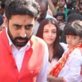 Abhishek Bachchan, Aishwarya Rai Bachchan visit Siddhivinayak temple on their wedding anniversary video