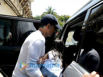 Akshay Kumar snapped with his family post a movie screening at PVR Juhu⁠