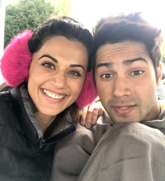 Check out Judwaa 2 stars Varun Dhawan and Taapsee Pannu are stressing out in chilly London