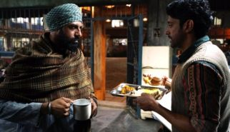 Farhan Akhtar and Gippy Grewal on sets of Lucknow Central
