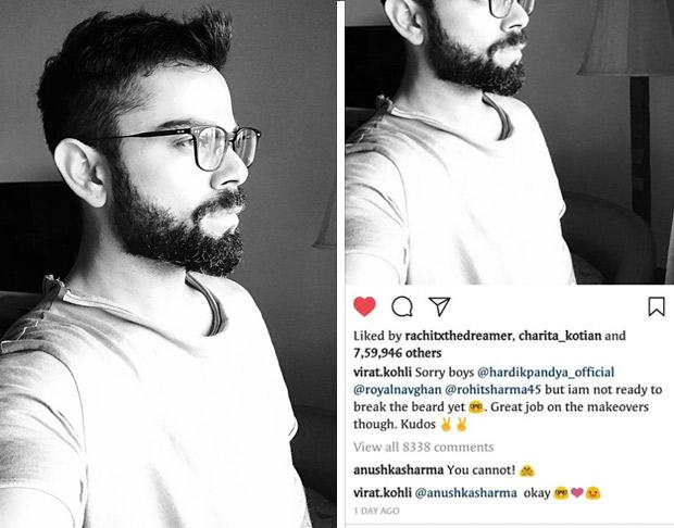 HD image of virat kohali tweet on his beared look साठी प्रतिमा परिणाम