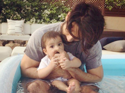 It's father-daughter time for Shahid Kapoor as he spends some quality time with daughter Misha in a pool