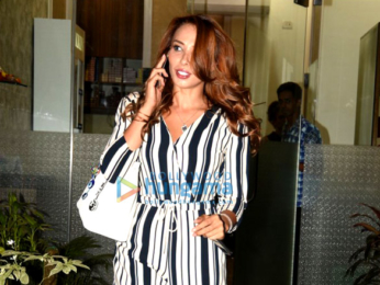 Iulia Vantur snapped post salon at Muaah salon