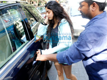 Jhanvi Kapoor snapped post lunch at Sequel Bistro