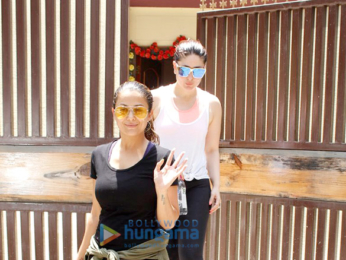 Kareena Kapoor Khan and Amrita Arora snapped post Yoga session in Bandra