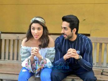 Parineeti Chopra and Ayushmann Khuranna snapped promoting 'Meri Pyaari Bindu'