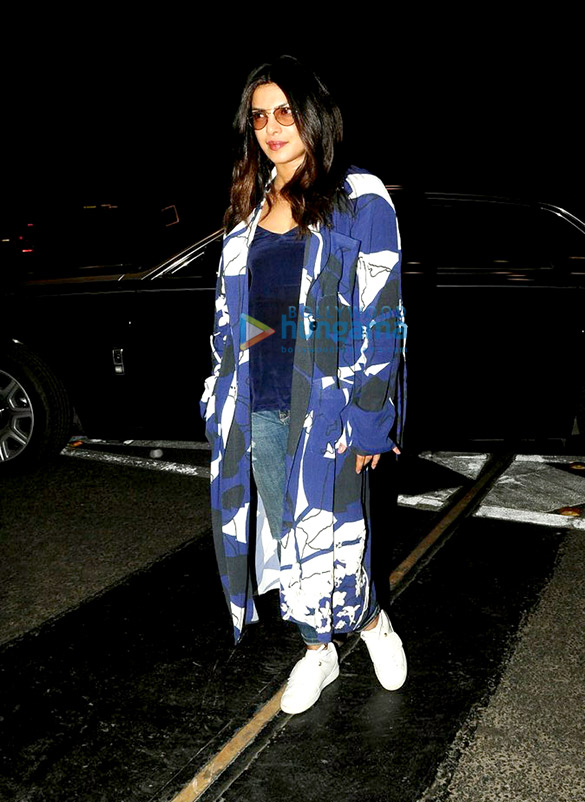Priyanka Chopra snapped leaving for USA