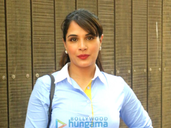 Richa Chadda promotes her production debut 'Khoon Aali Chithi'