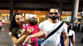 Shahid Kapoor, Mira Rajput, Rishi Kapoor, Neetu Singh snapped at the airpor
