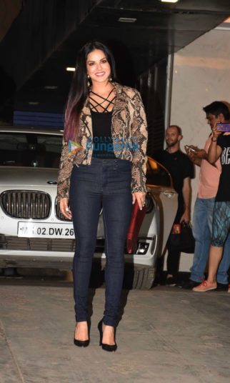 Sunny Leone snapped post her meeting in Bandra