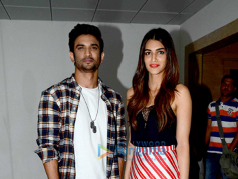 Sushant and Kriti snapped at Raabta's promotions