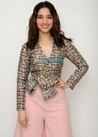 Tamannaah Bhatia snapped at the media meet of 'Baahubali 2 - The Conclusion'