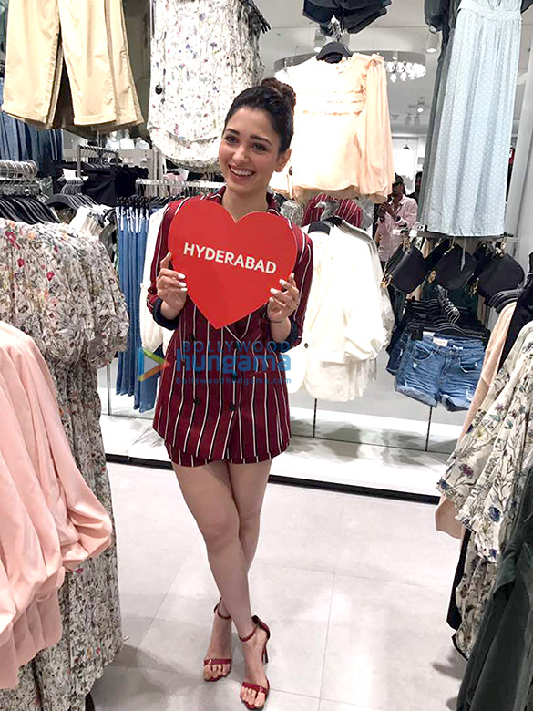 Tamannaah Bhatia visits H&M store in Hyderabad