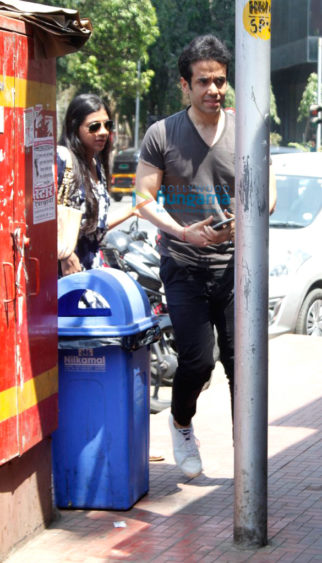 Tusshar Kapoor snapped with a mystery girl at Bastian