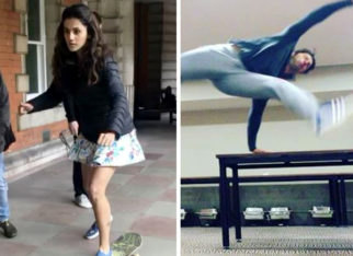 Varun Dhawan's crazy morning antics and Taapsee Pannu skateboard lessons on Judwaa 2 sets will make your day feature