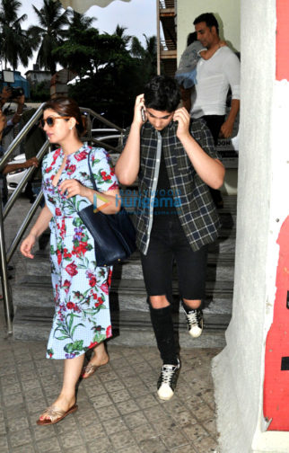 Akshay Kumar and family snapped post a movie screening at PVR Juhu