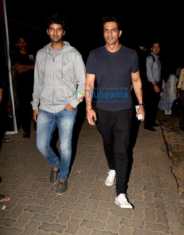 Arjun Rampal and Purab Kohli snapped post 'Baahubali 2 – The Conclusion' screening
