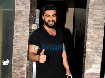 Arjun Kapoor and Shraddha Kapoor snapped at their film 'Half Girlfriend's bash at Mohit Suri's office