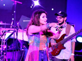 Ayushmann Khurrana and Parineeti Chopra at the musical concert of their film Meri Pyaari Bindu