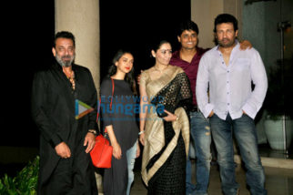 Wrap-up bash of the film Bhoomi with Sanjay Dutt and cast