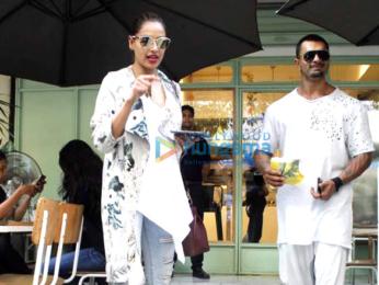 Bipasha Basu and Karan Singh Grover on lunch date at Kitchen Garden
