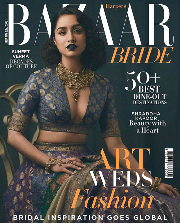 Check out Shraddha Kapoor is a beautiful retro bride on the cover of Harper's Bazaar Bride