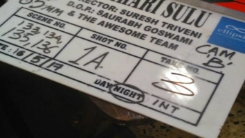 Director of Tumhari Sulu credits the entire team on the clapper board of the film