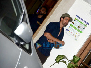 Hrithik Roshan, Sussanne Roshan, Twinkle Khanna and Gayatri Joshi snapped post dinner at a friend's house in Bandra