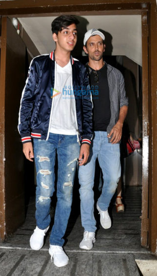Hrithik Roshan, Sussanne Roshan and kids snapped post a movie screening at PVR