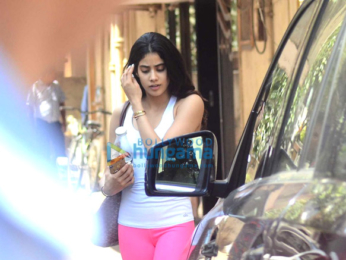 Jhanvi Kapoor snapped post her gym session in Bandra