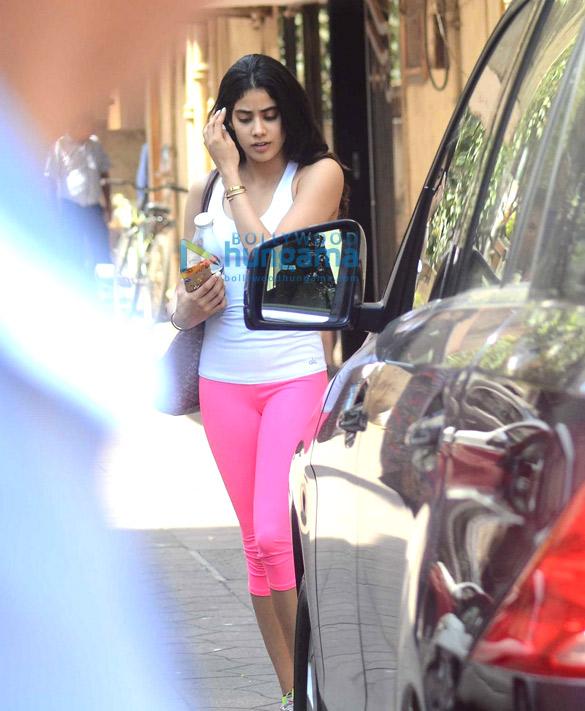 Jhanvi Kapoor snapped post gym in Bandra