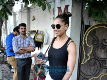 Karan Singh Grover and Bipasha Basu snapped post a spa session in Juhu