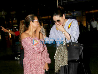 Kareena Kapoor Khan and Amrita Arora snapped arrving from Goa