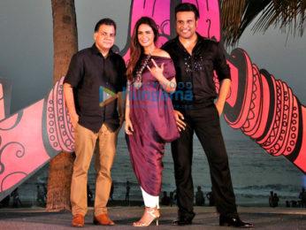 Krushna Abhishek and Mona Singh at the launch of 'India Banega Manch'