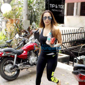 Malaika Arora Khan snapped post salon session in Bandra