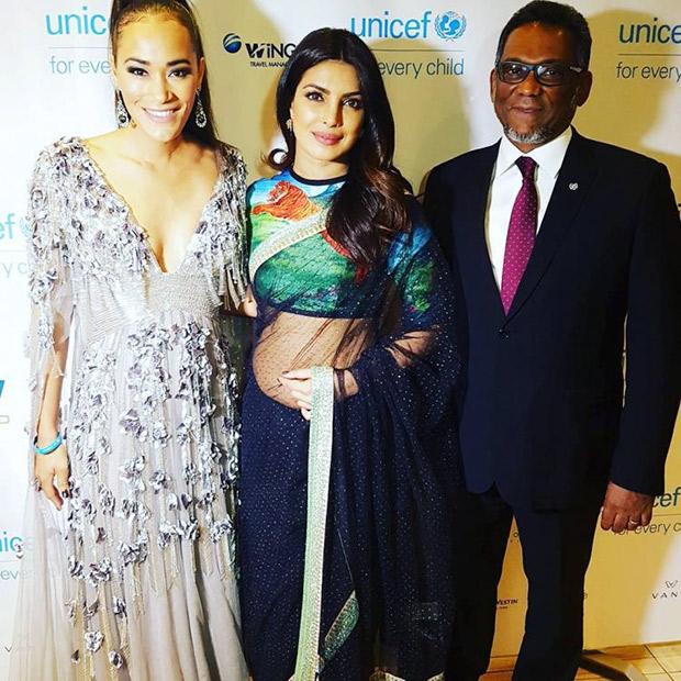 Priyanka Chopra wore a saree for UNICEF2