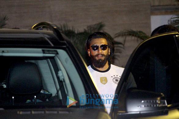 Ranveer Singh snapped at his gym