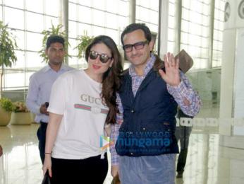 Saif Ali Khan and Kareena Kapoor Khan depart for London