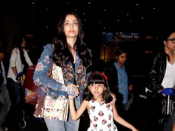 Sanjay Dutt, Aishwarya Rai Bachchan & Bipasha Basu snapped at the airport