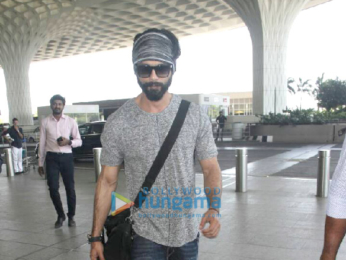 Shahid Kapoor leaves for Delhi to be with Mira Rajput and daughter Misha