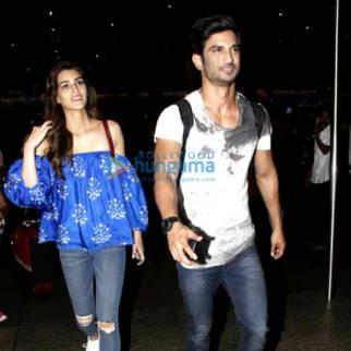 Sushant Singh Rajput, Kriti Sanon, Dhoni and Parineeti Chopra snapped at the airport