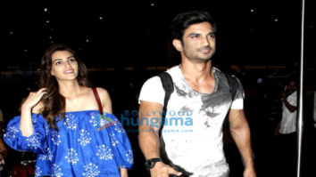 Sushant Singh Rajput, Kriti Sanon, Dhoni and Parineeti Chopra snapped at the airport