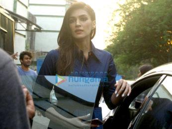 Sushant Singh Rajput and Kriti Sanon snapped promoting their film 'Raabta'