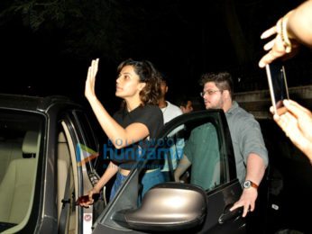 Tapsee Pannu snapped post spa session in Juhu