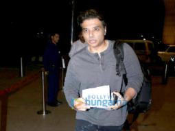 Uday Chopra and Nargis Fakhri snapped at the airport