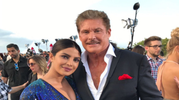 WOW Moment! Priyanka Chopra and Baywatch TV star David Hasselhoff meet up at the Baywatch film premiere and it's perfect