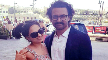 Aamir Khan poses with crew members on the sets of Thugs of Hindostan in Malta